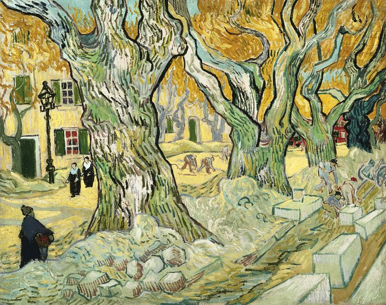 De stratenmakers - Vincent van Gogh  von 1000 Schilderijen