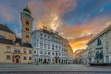 Wenen - Freyung bij zonsopkomst van Rene Siebring