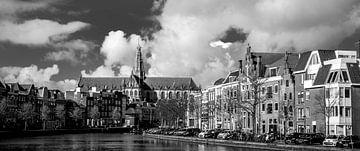 Panorama, Spaarne en Grote of Sint-Bavo kerk 01 von Arjen Schippers
