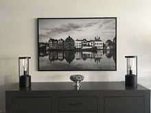 Klantfoto: Historisch maassluis in zwartwit van Ilya Korzelius, op canvas