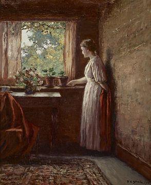 Das Mädchen am Fenster, Theodore Clement Steele