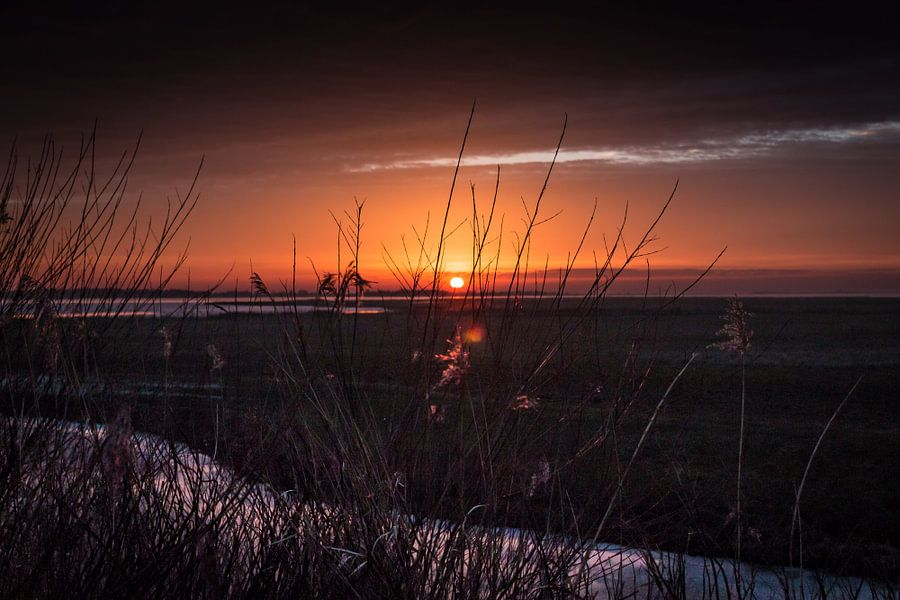 Sunset Lauwersoog Groningen