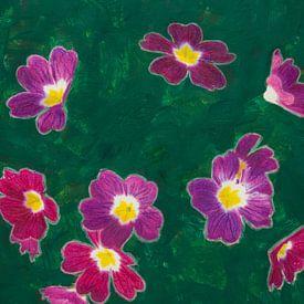 Primula in groen van Susan Hol