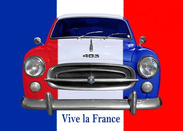 Peugeot 403 Vive la France van aRi F. Huber