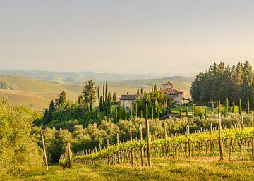 Huis op de heuvel - Toscane van Tony Buijse