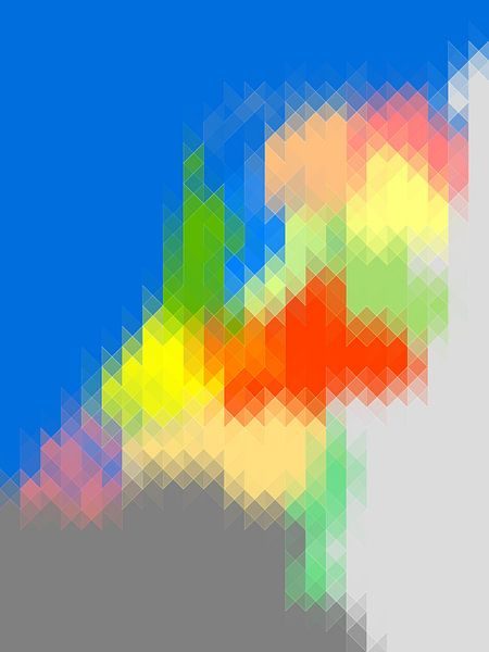 Driehoekskaart van Nederland - vertikaal van Frans Blok