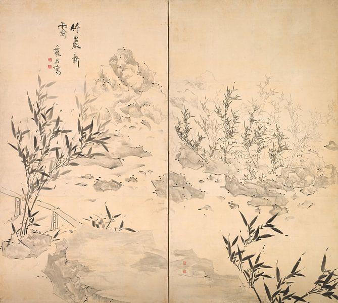 Ike Taiga. Bambus bei gutem Wetter nach Regen von 1000 Schilderijen