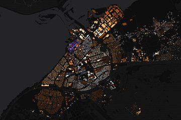 Kaart van Harderwijk abstract sur Stef Verdonk