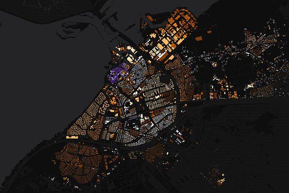Kaart van Harderwijk abstract