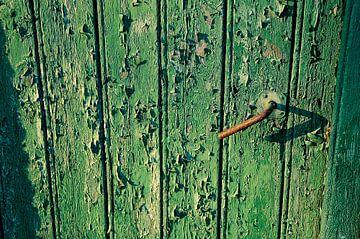 Oude gebladerde staldeur van Verrassend Brabant