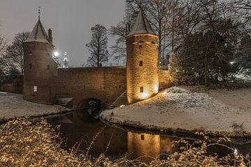 Monnickendam in Amersfoort im Schnee von Karin Riethoven