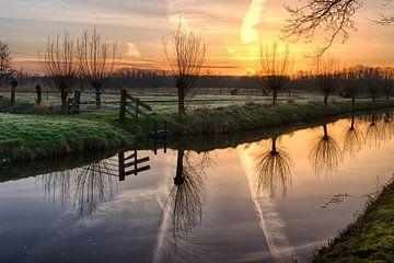 Landschap bij zonsopkomst van Carla Schenk