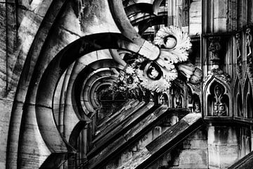 Mailänder Dom Duomo im Detail von Andreea Eva Herczegh