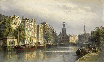 Het Singel te Amsterdam naar de Munt gezien