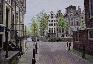 Schilderij: Amsterdam, Herengracht-Beulingstraat