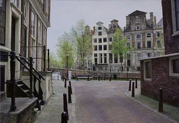 Schilderij: Amsterdam, Herengracht-Beulingstraat sur Igor Shterenberg