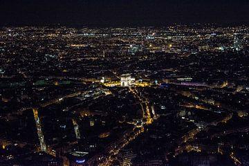 Arc the Triomphe - Eiffeltoren in de nacht von Femke Broekhuijsen