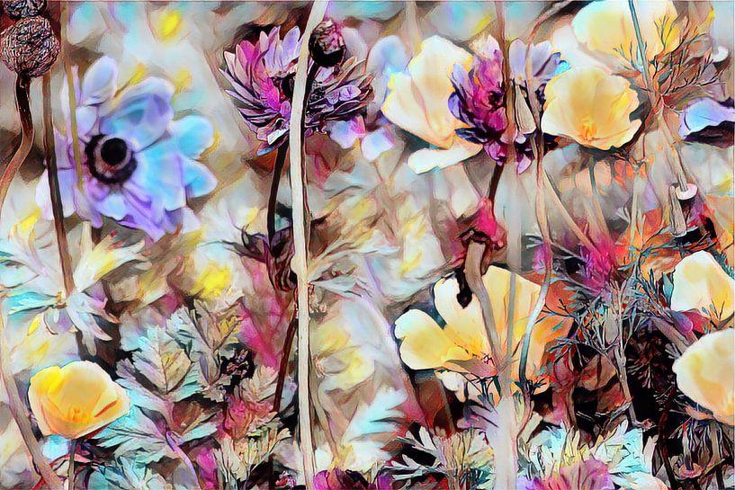 Bunte Blumen auf der Wiese von Patricia Piotrak