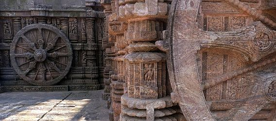 Sonnentempel-Skulptur in Odisha, Indien
