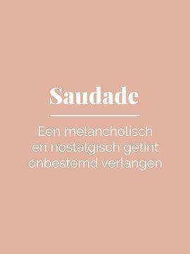 Impression typographique de la Saudade