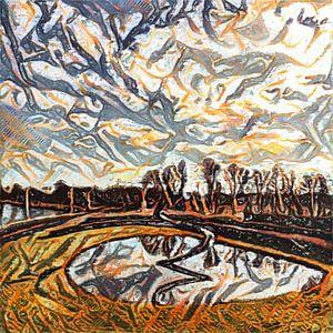 Digital Painted Diemen (2020-1) van OFOTO RAY van Schaffelaar