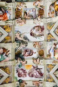 Sistine chapel, Sixtijnse kapel, Cappella Sistina Vaticaan, Rome, Italy van