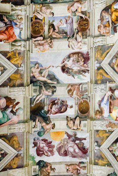 Sistine chapel, Sixtijnse kapel, Cappella Sistina Vaticaan, Rome, Italy van Martin Stevens