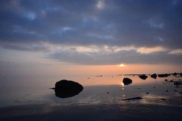 Ameland/Wad bij zonsondergang sur Rinnie Wijnstra