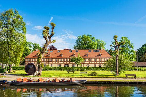 View to a building in Luebbenau, Germany