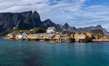 Sakrisøy, Lofoten, Noorwegen van Adelheid Smitt