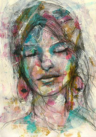 Rosa van Flow Painting