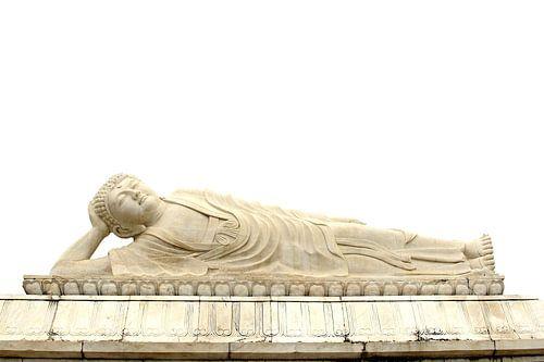 Marmeren liggende Boeddha, China