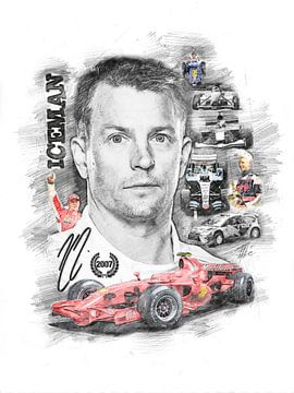 Kimi Räikkönen von Theodor Decker
