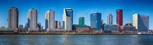 Boompjes in Rotterdam gezien vanaf Maaskade