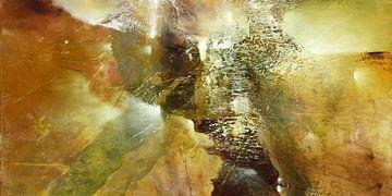 Abstracte compositie in groen: De aarde ontwaakt - nieuw leven. van Annette Schmucker