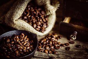 Geroosterde koffiebonen