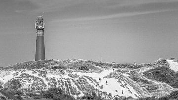 Vuurtoren Schiermonnikoog in zwartwit van Martzen Fotografie