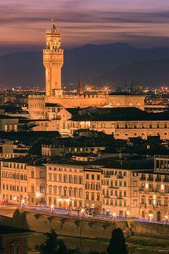 Palazzo Vecchio, Florence, Italië van Henk Meijer Photography