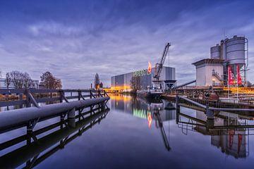 Reflet de Nefit à Deventer et dans l'IJssel. sur Bart Ros