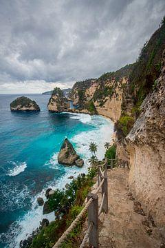 Diamond Beach op het eiland Nusa Penida van Ellis Peeters