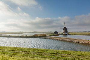 Oude Windmolen Het Noorden op Texel, Noord Holland van