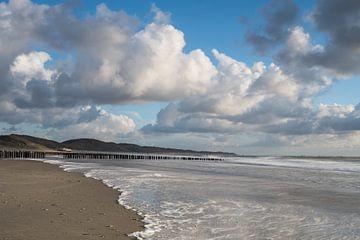 Strand Zoutelande van Bas Verschoor