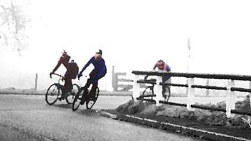 Fahrradfahrer von Jan van der Knaap