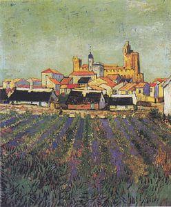 Zeezicht bij Les Saintes-Maries-de-la-Mer, Vincent van Gogh