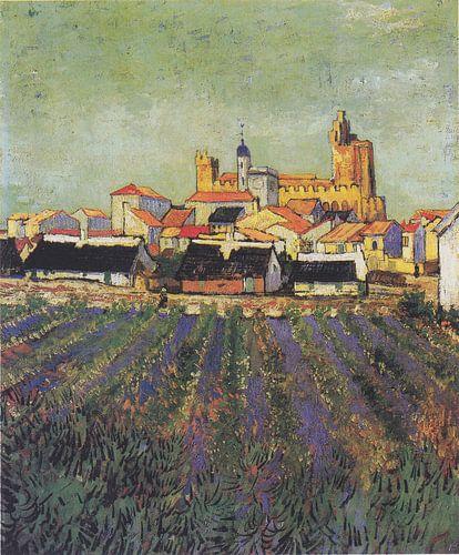 Zeezicht bij Les Saintes-Maries-de-la-Mer, Vincent van Gogh van Meesterlijcke Meesters