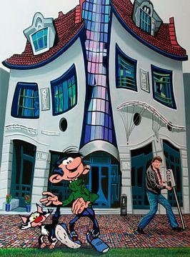 Gaston und Franquin Malerei von Paul Meijering