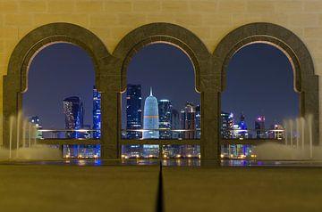 Skyline in Doha - Qatar von Jack Koning