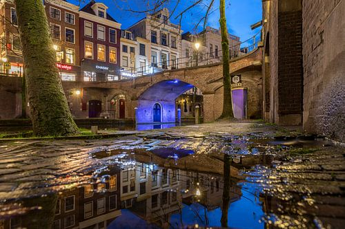 Avondsfeer langs de Oudegracht, Utrecht