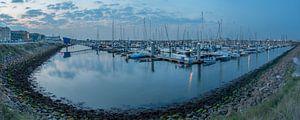Panorama jachthaven IJmuiden van