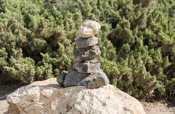 stack of stones on rock van